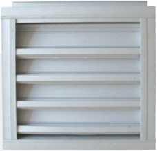 雙層防雨防沙調節百葉窗